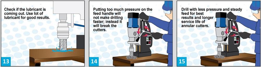 Guía para usar la prensa de taladro magnético